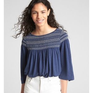 GAP XS Women's Bell Sleeve Top in Comet Blue